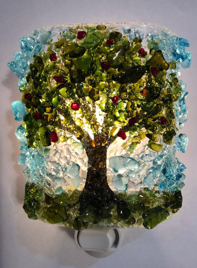 Apple Tree Recycled Glass  Nightlight - RebornGlass.com