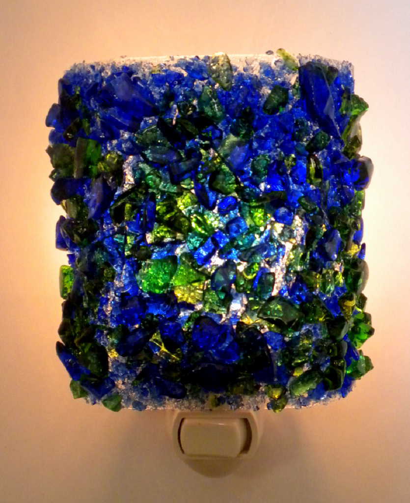 Martini Recycled Glass Night Light - RebornGlass.com