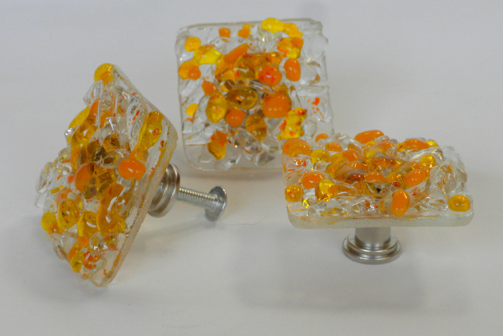 Sunshine--Reborn Glass Knobs & Drawer Pulls - RebornGlass.com