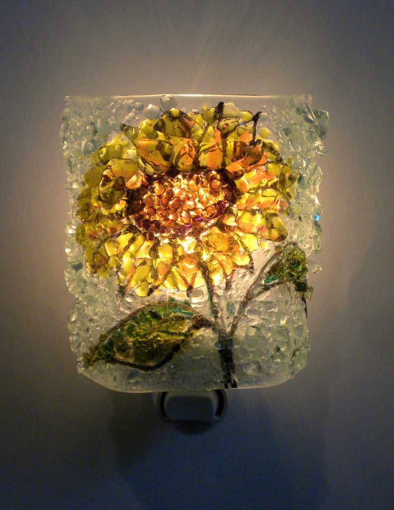 SunflowerReborn Glass Night Light - RebornGlass.com