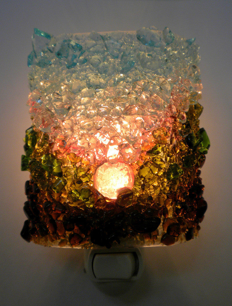 Mountain Sunrise Night Light - RebornGlass.com