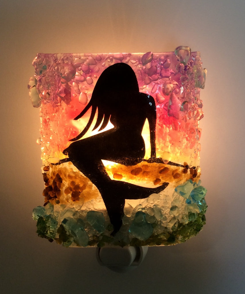 Mermaid Reborn Glass Night Light - RebornGlass.com