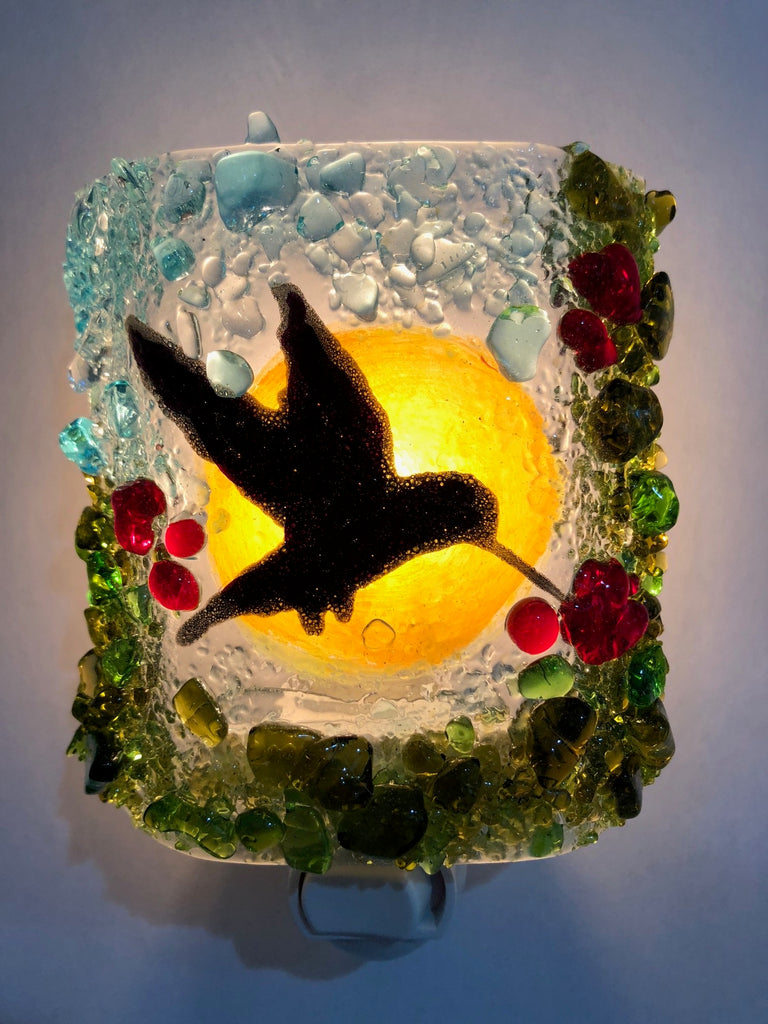 Humming Bird Nightlight - RebornGlass.com