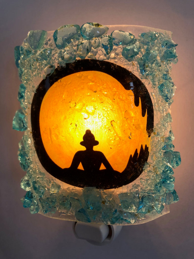 Zen Circle Buddha Night Light - RebornGlass.com