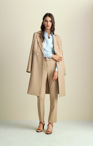 Basket Weave Trench Coat