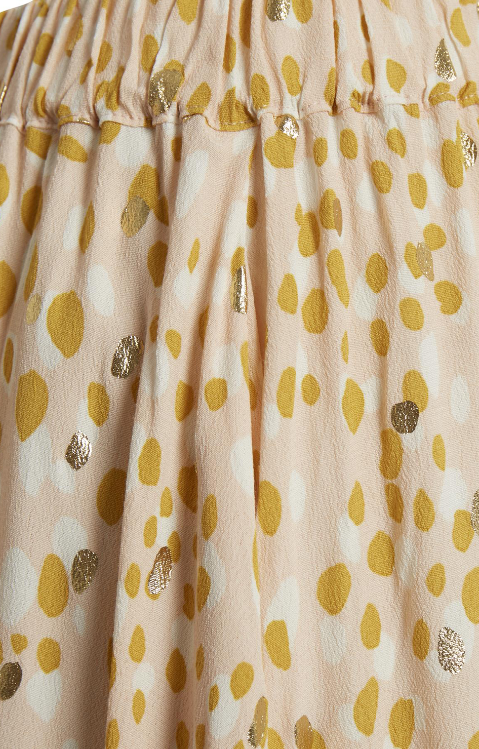 Cream Gold Dot Print