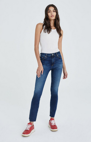 Mari High Rise Straight in 10 Years Defined - AG Jeans