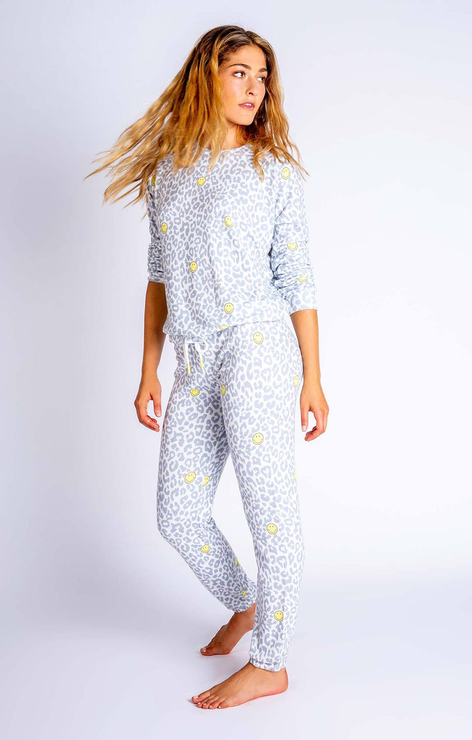 Smiley Print LS Top