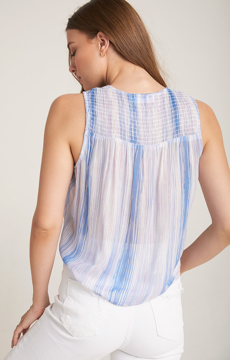 Smocked Tie Side Tank