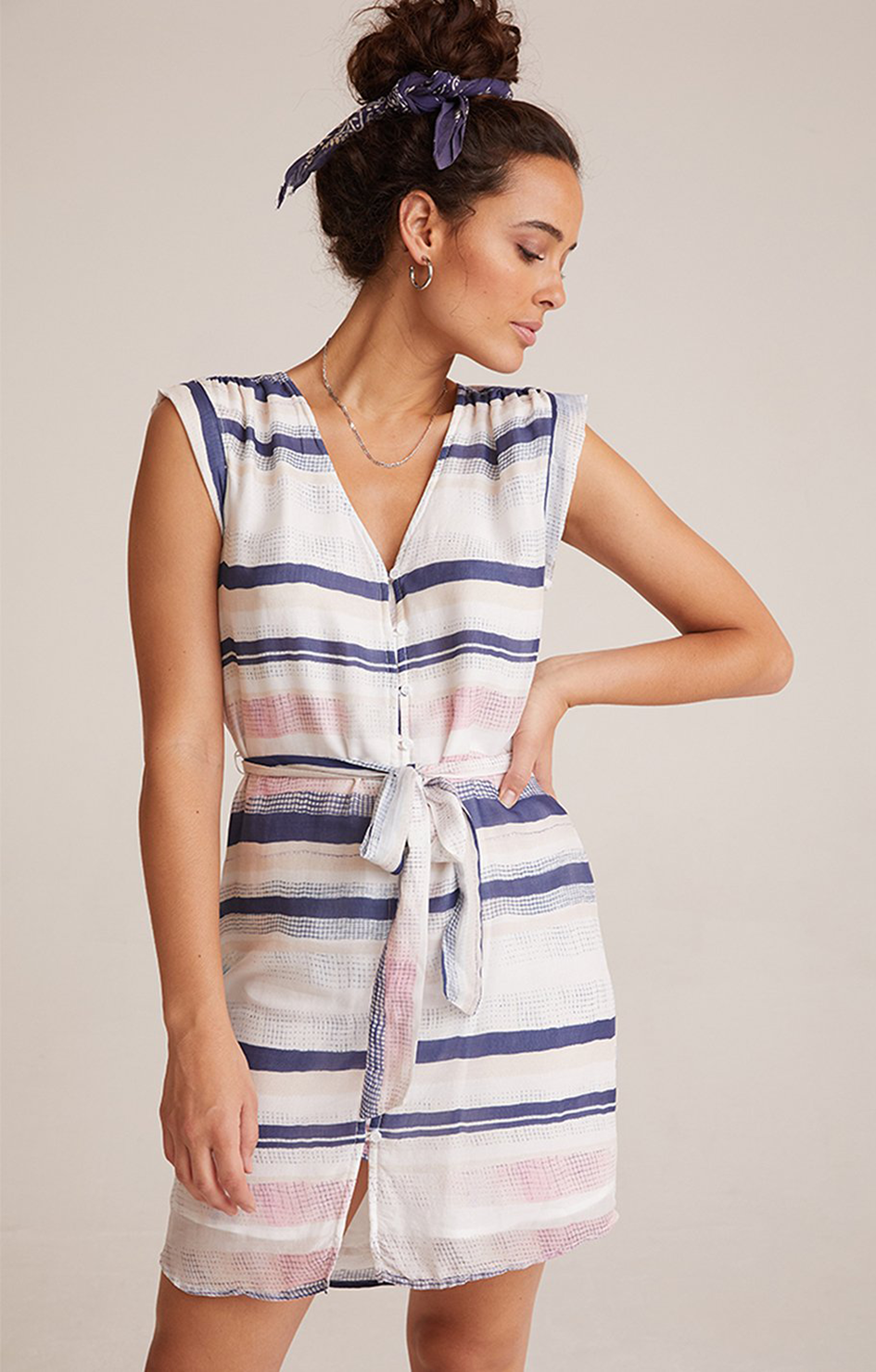 Bella Dahl Shirred Cap Sleeve Dress