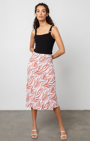 Anya Skirt In Rust Zebra