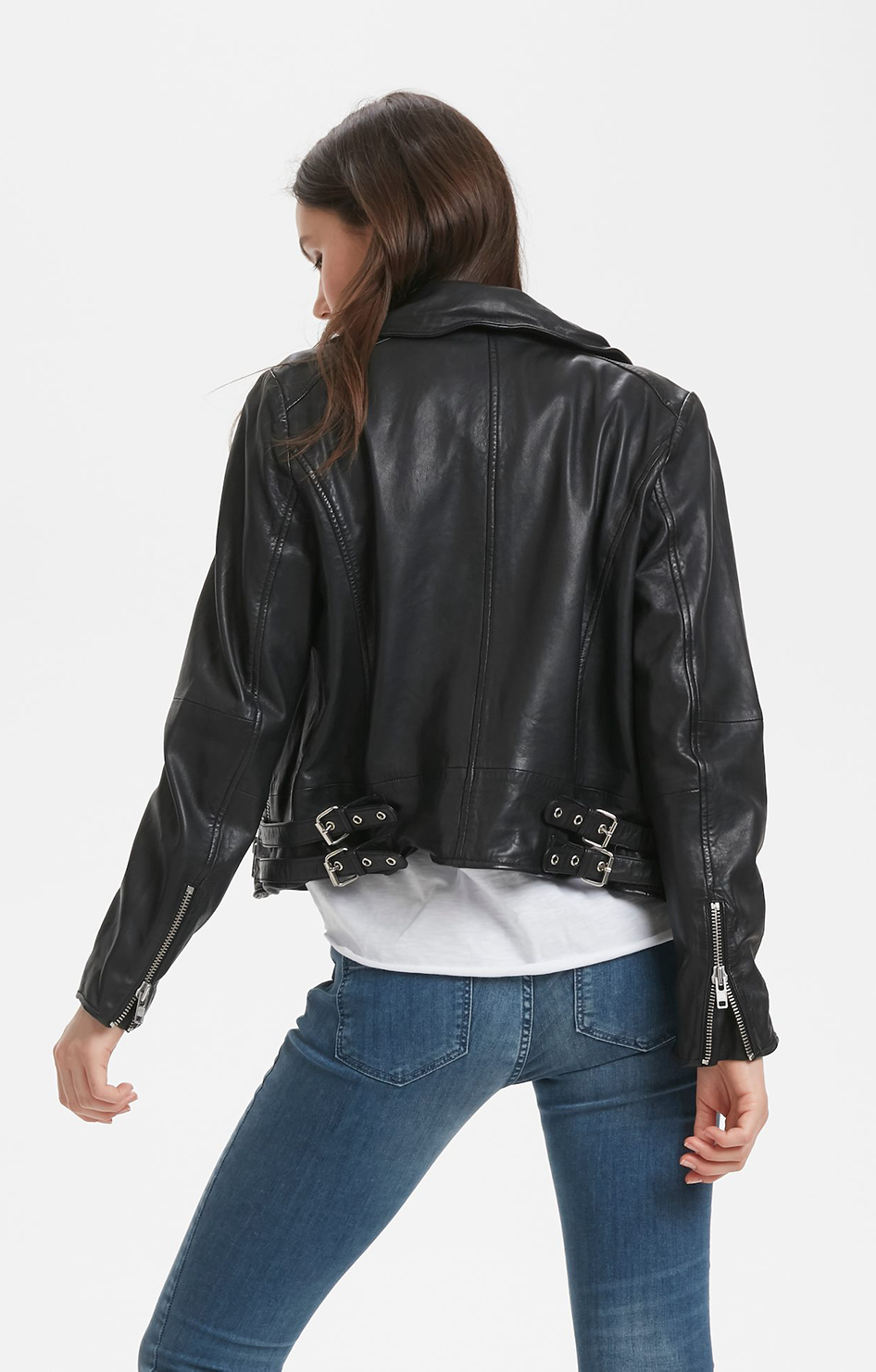 02 Leather Jacket - Denim Hunter