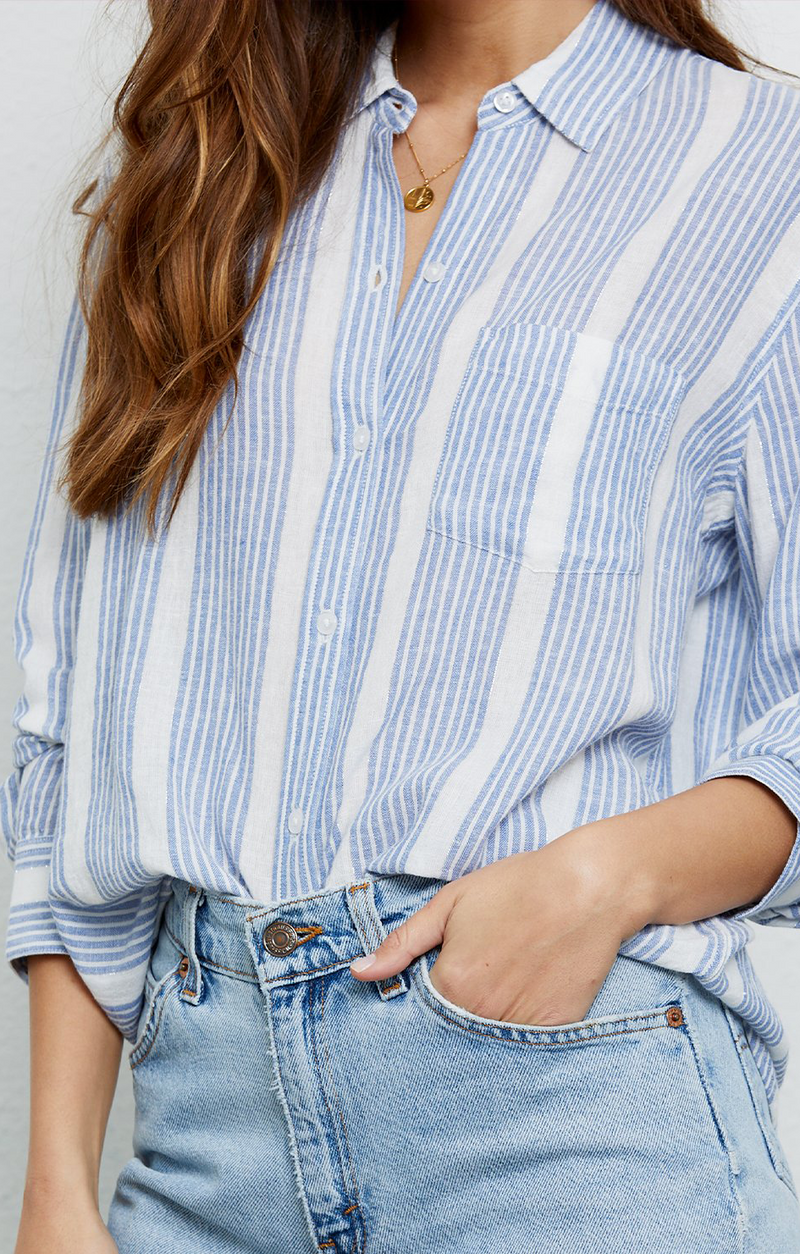 Charli Button Down In Levanzo Stripe