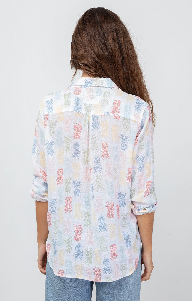 Charli Button Down In Rainbow Pinas