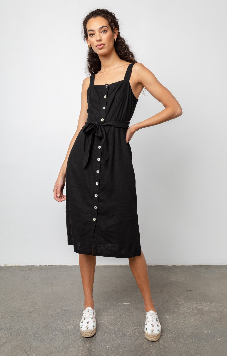 Clement Dress Black - Rails Clothing
