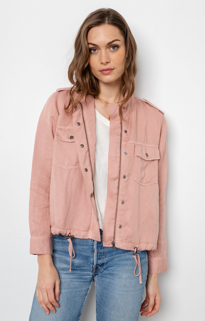 Collins Jacket In Rose Dust