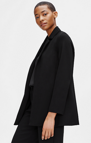 Flex Tencel Ponte Notch Collar Jacket - Eileen Fisher