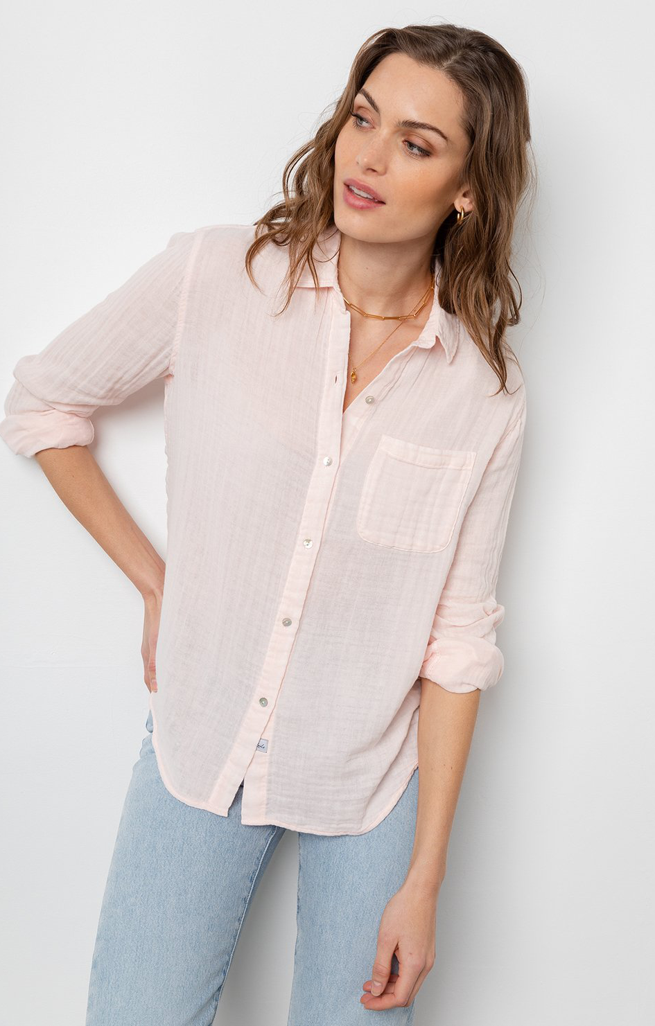 Ellis Shirt In Petal - Rails Clothing