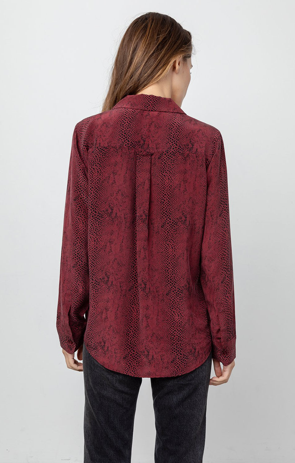 rails clothing rebel shirt silk red python