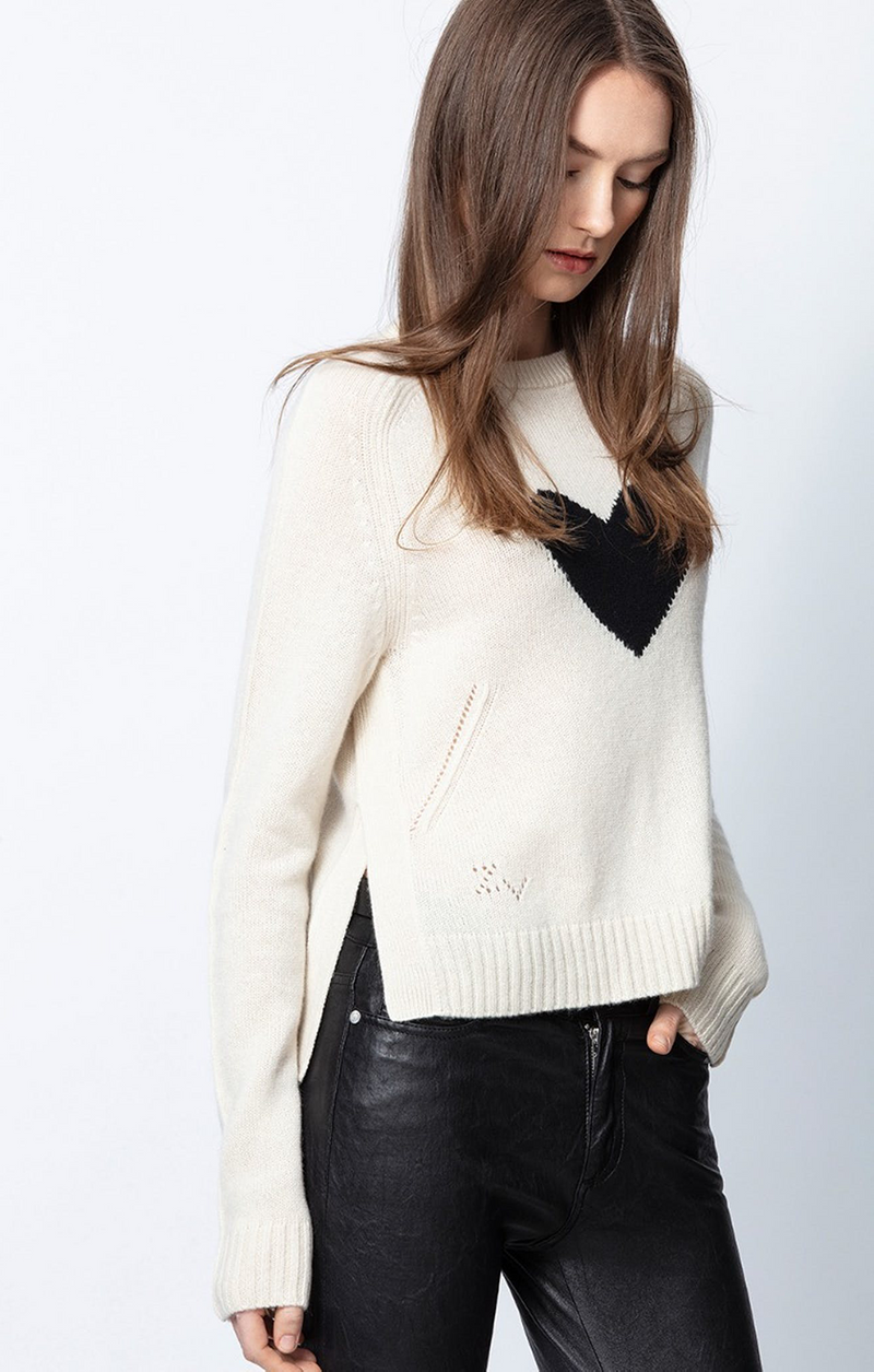 Lili Heart Sweater - Zadig & Voltaire