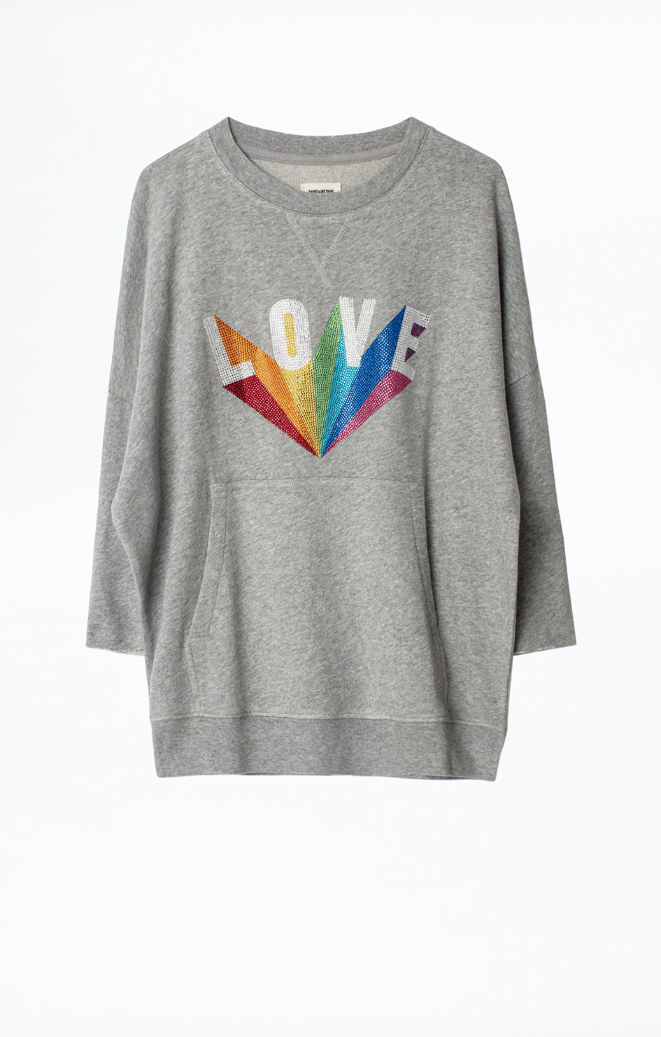 Kaly Lobe Rainbow Strass Sweatshirt