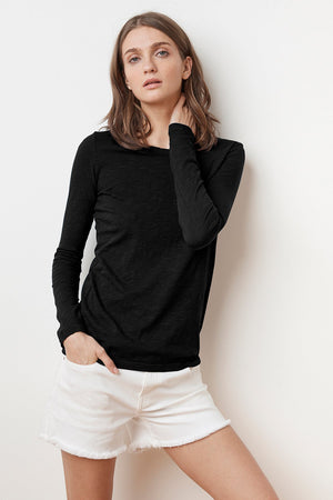 velvet by graham and spencer lizzie long sleeve tee