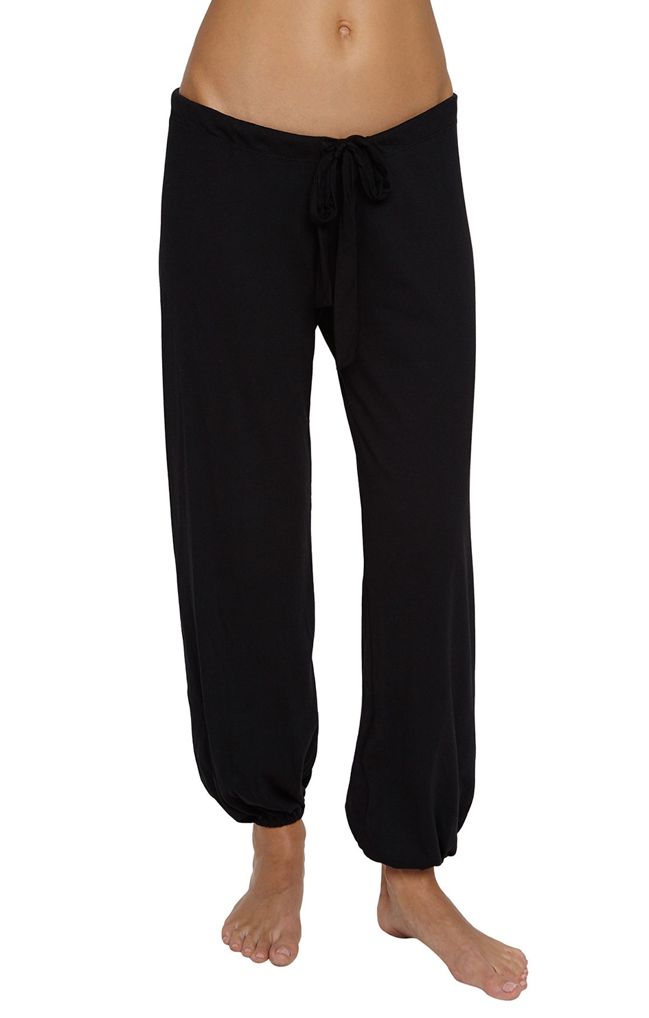 Heather Cotton Blend Cropped Pant