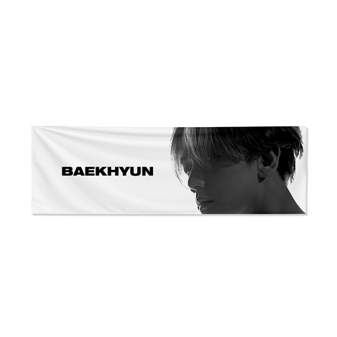 Baekhyun Reflective Slogan Banner + Digital Album