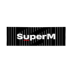 Super M Reflective Slogan Banner + Digital Album