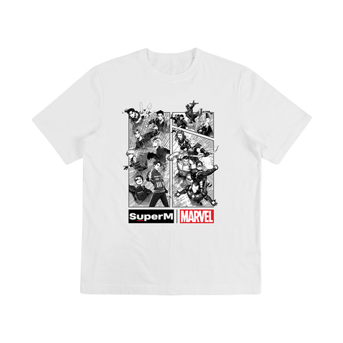 SuperM X MARVEL Cartoon Graphic T-Shirt + Digital Album