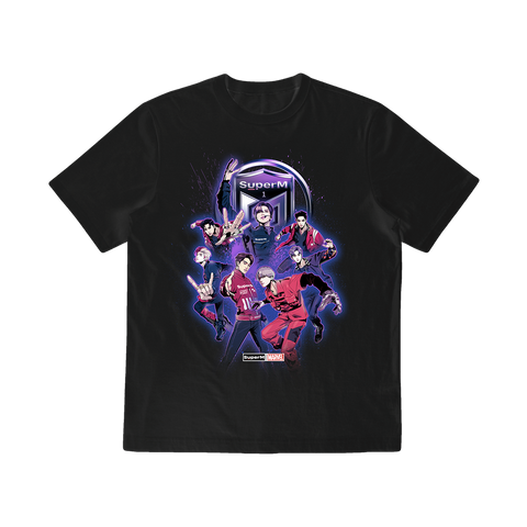 SuperM X MARVEL Comic Character Graphic T-Shirt + Digital Album