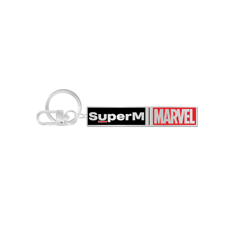 SuperM X MARVEL Logo Metal Keyring + Digital Album