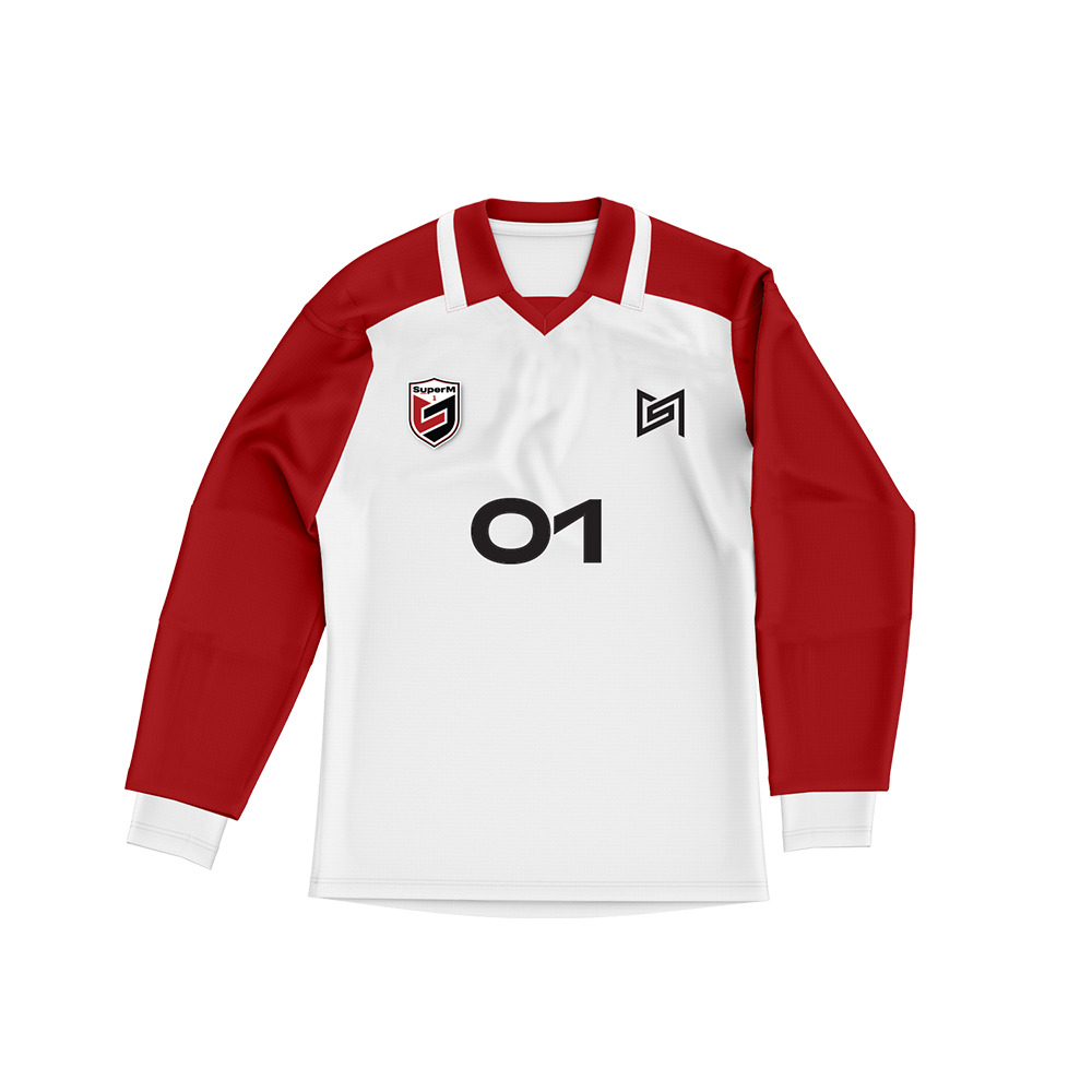 SuperM 'Super One' White/Red Sports Jersey