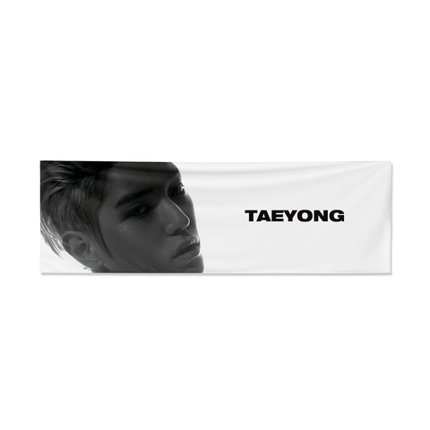 Taeyong Reflective Slogan Banner + Digital Album