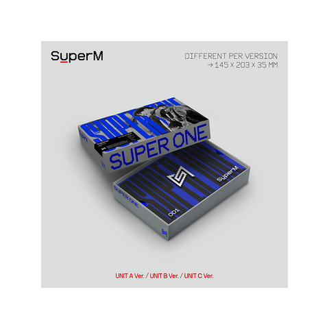 SuperM The 1st Album 'Super One' (Unit B Ver.)_BAEKHYUN, MARK, LUCAS