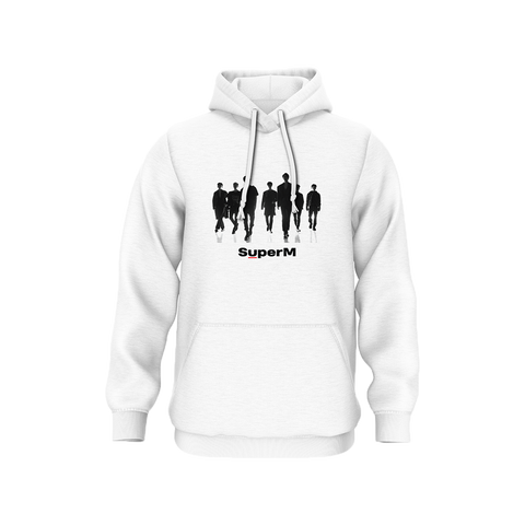 SuperM White Hoodie + Digital Album