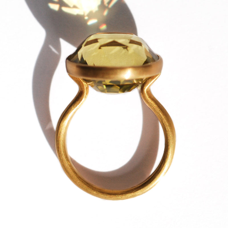 Bague Princesse Quartz Citron
