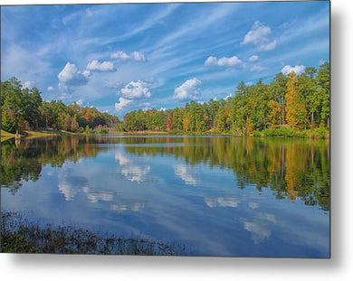 A Sunny Fall Day - Metal Print