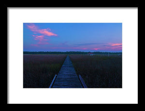 The South Carolina Sunset - Framed Print