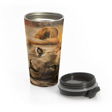 Load image into Gallery viewer, Portrait of Leo Stainless Steel Travel Mug