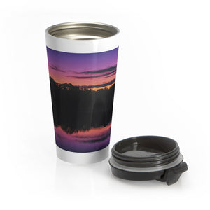 The Early Morning Sunrise Reflection Stainless Steel Travel Mug
