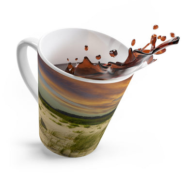 The Beautiful Sunset on the Beach Latte Mug