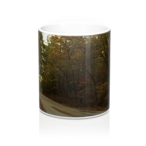 Fall on A County Road Mug 11oz