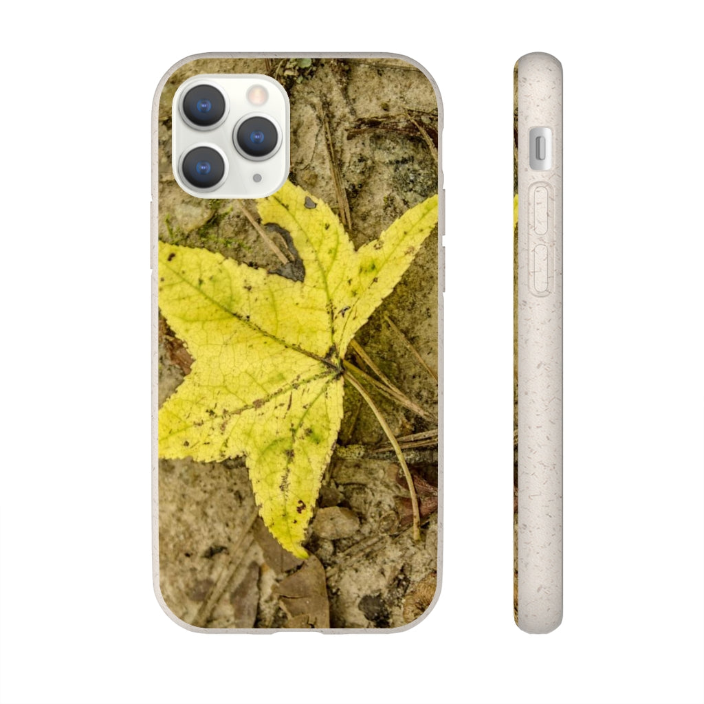 Yellow Leaf Biodegradable Case for Iphone