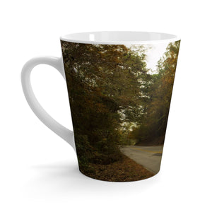 Fall on a County Road Latte Mug
