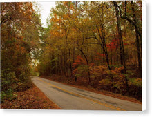 Load image into Gallery viewer, Fall On A County Road - Canvas Print