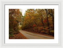 Load image into Gallery viewer, Fall On A County Road - Framed Print