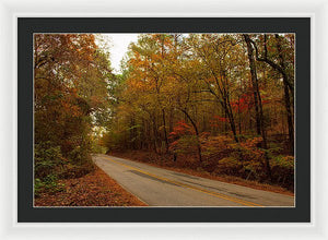 Fall On A County Road - Framed Print