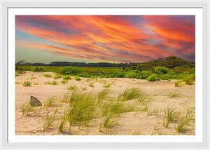 The Beautiful Sunset on the Beach - Framed Print