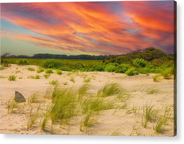 The Beautiful Sunset on the Beach - Acrylic Print